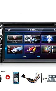 2 DIN 6.2 inch auto dvd-speler ramen CE6.0 os universele autoradio in dash bt stereo video swc