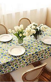 American Village Thick Cloth Tablecloths Geometric Diamond Printing Side Table Tablecloths (140 * 140cm)