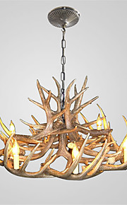 vintage Antler chandelier lighting Industrial Fixture Country 8-Lights Fit for Living Room Dining room Easy Installation
