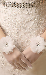 Wrist Length Fingertips Glove Lace / Net Bridal Gloves Spring / Summer / Fall / Winter Appliques