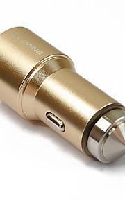 hasmine® dual-usb sigarettenaansteker in de auto-adapter voor smartphones en tabs