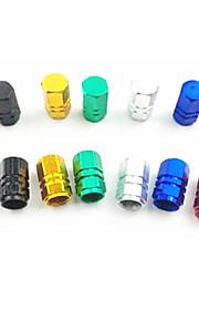 tapa de la válvula de aleación de aluminio de color, contra las fugas de aire de seis casquillo ángulo