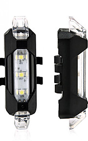 2pcs youoklight USB portátil recargable de ciclo de la bici cola de la bicicleta de seguridad trasera Luz de aviso de la lámpara blanca