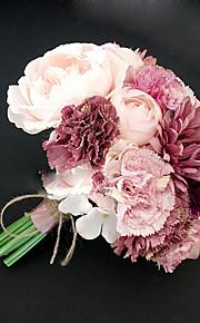 """Bouquets de Noiva Redondo Peônias Buquês Casamento Poliéster 7.48""""(Aprox.19cm)"""