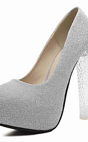 Women's Heels Summer / Round Toe Synthetic Office & Career / Casual Chunky Heel Others Purple / Silver Others