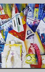 Hånd-malede Abstrakt / Kendt / Landskab / Abstrakt Landskab Oliemalerier,Klassisk Et Panel Canvas Hang-Painted Oliemaleri For Hjem