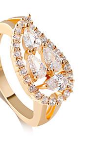 Alliances Mode Mariage Bijoux Alliage Femme Anneaux 1pc,8 / 9 / 8½ / 9½ Doré / Argent