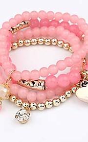 Chaînes & Bracelets / Charmes pour Bracelets / Bracelets Wrap 1pc,Couche double / A la Mode / Vintage / Bohemia style / Ajustable /