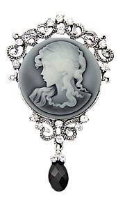 damesmode antiek zilver vintage broche pinnen sieraden koningin strass waterdruppel broches voor vrouwen gift