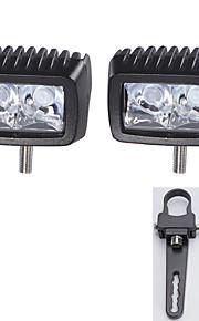 "1 ""een paar montagebeugels + high-power 2x 10W LED lichtbalk offroad rijden bar suv"