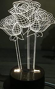 סטריאו 3D עלה מתנת יום הולדת מנורת הלילה ליד מיטה דקורטיבית מנורת שולחן קטנה