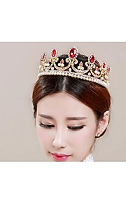 Dame Legering Headpiece-Bryllup Diademer 1 Deler Rød Oval 48cm