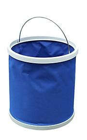 ziqiao función multi plegable cubo de agua de lavado de coches colgador de camping cubo plegable (colores aleatorios)