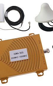 CDMA/DCS 850MHz 1800MHz Dual Band Mobile Phone Signal Booster Repeater Amplifier Antenna Kit Gold
