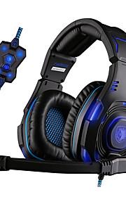 Sades SA-907 Hoofdtelefoons (hoofdband)ForMediaspeler/tablet / ComputerWithmet microfoon / DJ / Volume Controle / FM Radio / Gaming /