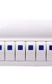 12-24V auto tuning onderdelen voor de auto-switch combinatie 4,6,8 groep tuimelschakelaar