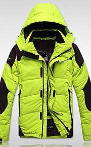 Manteau Doudoune Hommes,Normal Actif / Chinoiserie Sportif Couleur Pleine-Polyester Duvet de Canard Blanc Manches LonguesBleu / Vert /