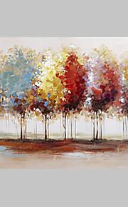 캔버스에 무료 시핑 추상 다채로운 나무