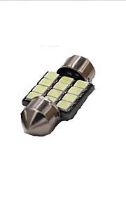 10st 31/39 / 42mm slinger-12SMD-2835 lichtkoepel, rreading licht, de kentekenverlichting wit DC12V