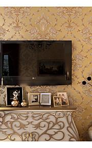 אריג טפט (Damask) / פרחוני / ארט דקו / 3D טפט עבור בית עכשווי וול כיסוי , בד לא ארוג חוֹמֶר דבק נדרש טפט , Wallcovering חדר