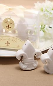 Recipient Gifts Fleur de Lis Salt and Pepper Shakers Kitchen Wedding Favors BETER Gifts Love Birds