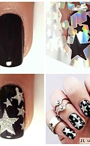 5pcs Nagel-Kunst-Aufkleber Diecut Maniküre Schablone Make-up kosmetische Nail Art Design