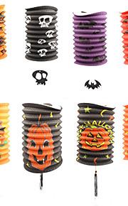 5шт тыквенные фонари телескопических цилиндрические бумажные фонарики Хэллоуин реквизит украшения поставок