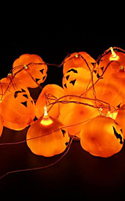 16pcs / set Halloween-Kürbis Requisiten ein String Kürbislicht verrückt Parteidekoration Kürbislampe Halloween-Party-Dekoration