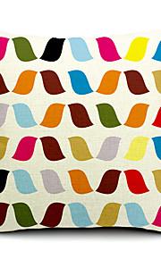 1 pcs Coton/Lin Taie d'oreiller / Oreiller de corps / Canapé Coussin,Nouveauté / Rayé / Imprimés Photos Moderne/Contemporain