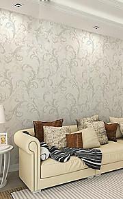Minimalist European Vintage Leaf Wallpaper For Walls 3 D Bedroom Living Room Decor Embossed Nonwoven Wall Paper Rolls