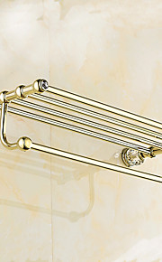 Estantería de Baño / Latón Pulido / Montura en Pared /24.4*8.6*5.9 inch /Latón /Contemporáneo /62CM 22CM 1.5KG