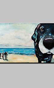 Pintada a mano Abstracto / Paisaje / Animal / Paisajes Abstractos Pinturas de óleo,Modern / Estilo europeo Un Panel LienzosPintura al
