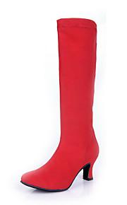 Sapatos de Dança(Preto / Vermelho / Branco / Leopardo) -Feminino-Não Personalizável-Latina / Botas de dança