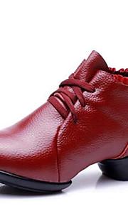 Sapatos de Dança(Preto / Vermelho / Branco) -Feminino-Não Personalizável-Moderna