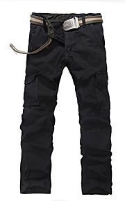 Pantaloni della tuta Uomo Casual / Attività sportive / Taglie forti A quadri / Tinta unita / Mimetico Cotone / PoliestereNero / Blu /