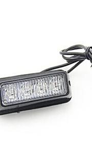 08002 12v highlight 4 ha condotto la luce laterale dell'automobile 4 LED Strobe luci della griglia stroboscopiche potere 4led