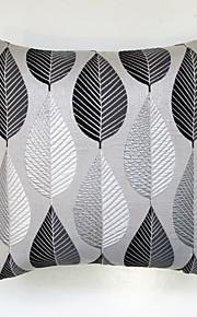 Geometric Jacquard Cushion Cover-BLACK