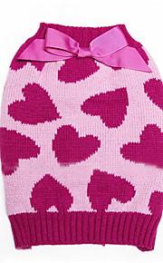 Собаки Комбинезоны Розовый Одежда для собак Зима / Весна/осень Сердца Милые / Сохраняет тепло /
