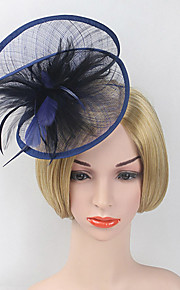 Women's Feather / Net Headpiece-Wedding / Special Occasion Party Fashion Fascinators Headband 1 Piece