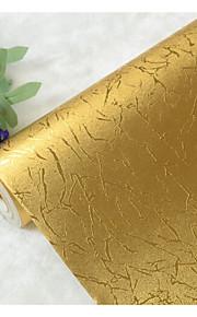 פס / ארט דקו / 3D טפט עבור בית יוקרתי וול כיסוי , רדיד זהב חוֹמֶר דבק נדרש טפט , Wallcovering חדר