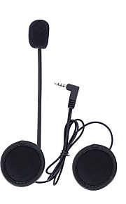 intercom v4 interkomsystemene tilbehør 3.5mm jack plugg øretelefon stereo dress for v6 v4 bluetooth intercom motorsykkel moto v6