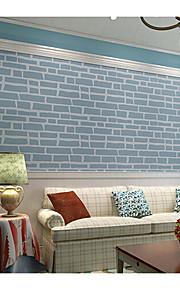 Damas / Fleur / Rayure / Décoration artistique / 3D Fond d'écran pour la maison Contemporain Revêtement , Tissu Non-Tissé Matérieladhésif