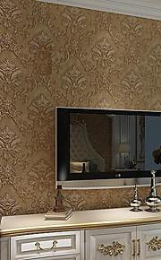 Simple European Vintage Luxury Wallpaper For Walls 3 D Home Decor Bedroom Living Room Brown  Wall Paper Rolls