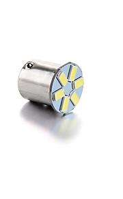 10st 1156 / 1157-6smd-5630 gloeilamp lampturn signaal licht remlicht wit DC12V