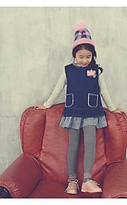Mädchen Jeans / Anzug & Overall-Lässig/Alltäglich einfarbig Baumwolle Frühling / Herbst Blau