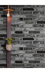 ארט דקו / 3D / לְבֵנָה טפט עבור בית קלאסי וול כיסוי , PVC/Vinyl חוֹמֶר דבק נדרש טפט , Wallcovering חדר