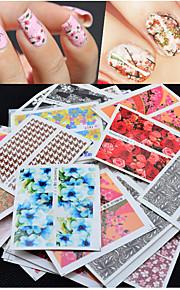 50pcs Nagel-Kunst-Aufkleber Nail Schmuck / 3D Nails Nagelaufkleber Blume Make-up kosmetische Nail Art Design