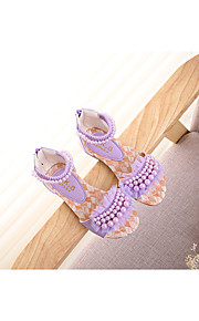Girl's Sandals Summer Mary Jane PU Outdoor Flat Heel Others Blue / Pink / Beige Others