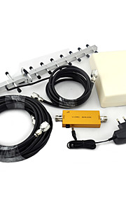 Mini W-CDMA 2100mhz 3G Mobile Phone Signal Booster UMTS Signal Repeater with Panel Antenna / Yagi Antenna