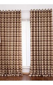 Deux Panneaux Le traitement de fenêtre Moderne , Tartan Salle de séjour Mélange Poly/Coton Matériel Rideaux TenturesDécoration
